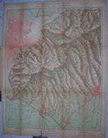 VECCHIA MAPPA -  CARTA DELLA COLLINA TORINESE -1937 - REALE AUTOMOBILE CLUB D' ITALIA - 1:25.000 - Carte Topografiche