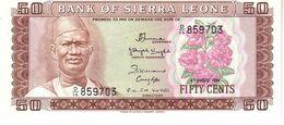 Sierra Leone P.4 50 Cent 1984  Unc - Sierra Leone