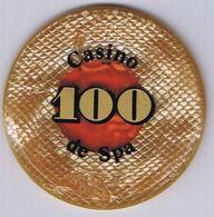 Casino Chip Jeton 100 BEF Casino De Spa Belgium Belgique België - Casino