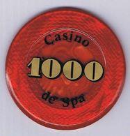 Casino Chip Jeton 1000 BEF Casino De Spa Belgium Belgique België - Casino
