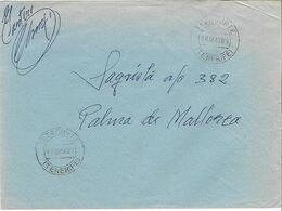 ESPAÑA. CARTA CIRCULADA DE TAZACORTE (TENERIFE) A MALLORCA. SIN FRANQUEO. FIRMA DEL CARTERO.1969 - Spanien