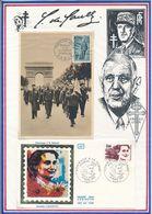 FRANCE -CARTE  OBLI 1ER JOUR RETOUR DES DEPORTES PARIS 1.04.65 + FDC OBLI HOMMAGE A DANIELLE CASANOVA PARIS 08.03.83 - Guerre Mondiale (Seconde)