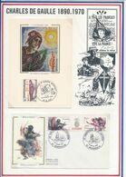 FRANCE -CARTE OBLI EXPO 2 GUERRE MONDIALE LE LUC 15-16.11.86 + FDV RESISTANCE OBLI 40E ANNIV LIBERATION DRUSENHEIM 03.85 - Guerre Mondiale (Seconde)