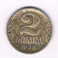 2 DINAR 1938  SERVIE /5922/ - Serbia