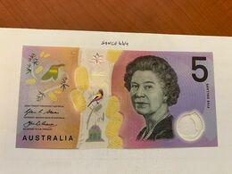 Australia $5 Uncirc. Polymer Banknote 2016 #1 - Emissions De La Banque Nationale 1910