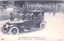 Politique - Mars 1916 -  Les Hotes De La France - Depart Gare De Lyon - L Auto Presidentielle De Raymond Poincarre - Ereignisse