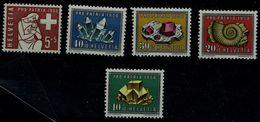 SWITZERLAND 1958 PRO PATRIA MINERALS AND REFLECTIONS MI No 657-61 MNH VF !! - Pro Patria