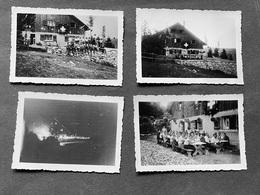 Spitzberg Jura Hütte Gesellschaft/ CH-Fahne 4 Fotos Ca. 1932 - Lugares