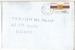 CC CON ATM LOGO CORREOS MAT VALL DE UXO CASTELLON - 1931-Hoy: 2ª República - ... Juan Carlos I