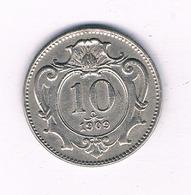 10 HELLER 1909 OOSTENRIJK /5932/ - Austria