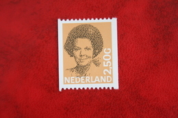 2,50 Gld Rolzegel Koningin Beatrix In Zwart NVPH 1246 1246A (Mi 1304)  1986  POSTFRIS / MNH / ** NEDERLAND / NIEDERLANDE - Ongebruikt