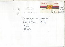 CC CON ATM LOGO CORREOS MAT ALICANTE - 1931-Hoy: 2ª República - ... Juan Carlos I