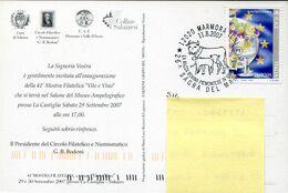 56389 Italia,  Circuled Card 2007 Marmora Sagra Del Margaro,  Cattle, Yolk - Farm