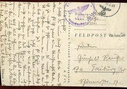 56391 Germany Reich,feldpost Card 10.2.1944 Weihnacht, Circuled  Gelaufen  (see 2 Scan) - Briefe U. Dokumente