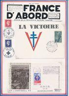 FRANCE - CARTE VICTOIRE OBLI MEMORIAL DE LA LIBERTE VILLERS SUR MARNE 04.85+ ENV OBLI ARROMANCHES PORT WINSTON EXPO PERM - Guerre Mondiale (Seconde)