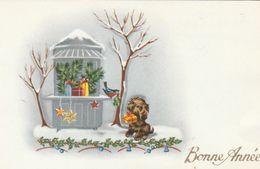Mignonnette - Bonne Année - Chien Oiseau - Nouvel An