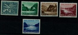 SWITZERLAND 1956 PRO PATRIA  THE WORK OF WOMAN LAKES AND WATER RIVERS MI No 627-31 MNH VF !! - Pro Patria
