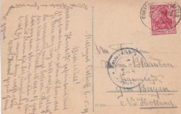 383-29 Prentbriefkaart Oesede Met Censuurstempel : Auslandstelle Emmerich Freigegeben IV*22 En Bahnpost - Weltkrieg 1914-18