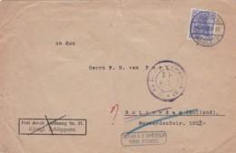 383-31  Brief (scheurtje Boven, Risschen Oben) 2-12-1918Zensurstempel: Auslandstelle Emmerich III*20. Inconnu, Retour - Oorlog 1914-18