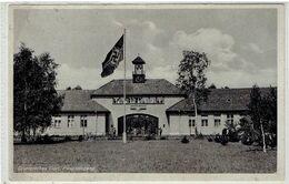 Dallgow-Döberitz - Brandenb.- Olympisches Dorf 1936 - Haupteingang - Swastika Fahne - NSDAP - Feldpost - Dallgow-Doeberitz