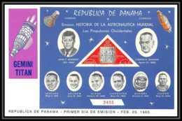 11404/ Espace (space) Lettre (cover) Fdc Non Dentelé (imperforate) Gemini Titan Panama 25/2/1965 - Cartas