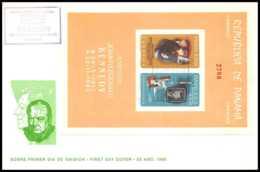 11408/ Espace (space) Lettre (cover) Fdc Kennedy Churchill Non Dentelé (imperforate) Panama 25/8/1965 - Cartas