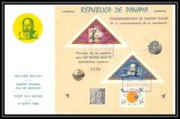 11411/ Espace (space) Lettre (cover) Fdc Triangles Non Dentelé (imperforate) Galilio Galilei Panama 12/5/1965 - Cartas