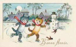 Mignonnette - Bonne Année - Chats Bonhomme Neige - Nouvel An