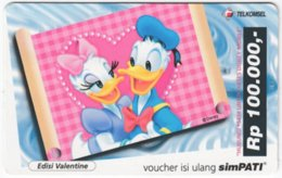 INDONESIA A-481 Prepaid SimPATI - Walt Disney, Donald Duck - Used - Indonesia