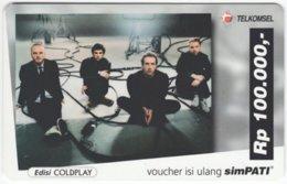 INDONESIA A-488 Prepaid SimPATI - Musicians, Coldplay - Used - Indonesia