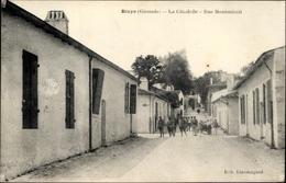 Cp Blaye Gironde, La Citadelle, Rue Montmirail, Straßenpartie - Autres Communes