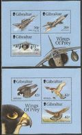 Gibraltar 1999 Yvertn° Bloc 36-37  *** MNH Cote 12 € Oiseaux Birds Vogels Avions - Gibraltar