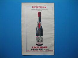 (1949) Grands Vins D'Alsace : LEON BEYER à Eguisheim -- BOTT-GREINER à Mittelwihr - Publicités
