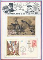 FRANCE - CARTE DE GAULLE OBLI SALON DE L'ARMEE PARIS + FDC OBLI COLOMBEY LES 2 EGLISES 9.11.71 - De Gaulle (Général)