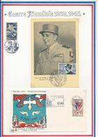 FRANCE - CARTE DE LATTTRE OBLI SALON DE L'ARMEE PARIS + ENV OBLI 20E ANNIV DE LA VICTOIRE REIMS 7-8.05.65 - Guerre Mondiale (Seconde)