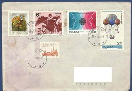 POLAND POSTAL USED AIRMAIL COVER TO PAKISTAN - Airmail