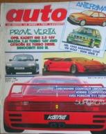 AUTO - N.6 - GIUGNO 1988 - ANNO IV - MAZDA 323 1,6i TURBO 16V 4WD - OPEL KADETT 2.0 GSI 16V  - CITROEN BX TRD TURBO - Moteurs