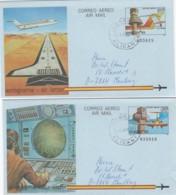 Spain 2 Aerograms 1975-95 - Luftpost
