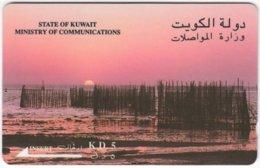 KUWAIT A-326 Chip Comm. - Landscape, Coast, Sunset - 23KWTD - Used - Kuwait