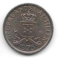 *netherlands Antilles 1 Cent 1975   Km 8   Unc/ms63 - Antillen (Niederländische)