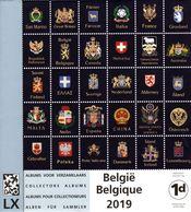 Feuilles DAVO Belgique 2019 1d  (prix Normal : 20,80 €) - Groß, Grund Weiß