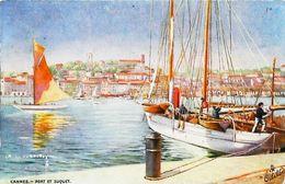 Cpa CANNES (Oilette Raphael Tuck) Bateau De Plaisance   (Vieux Gréement - Old Sailing Boat Or Fishing Ship) - Velieri