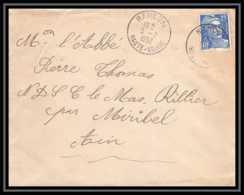 Lettre (cover) 5276 N°886 Marianne De Gandon 1952 Haute Vienne RANCON Pour L'Abbé Thomas Miribel Ain - 1945-54 Marianne De Gandon