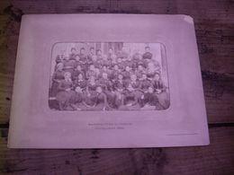 CHATEAUROUX - LA MANUFACTURE DE TABACS - LES CIGARIERES ET LEUR CHEF EN 1890 !  Rarissime Photo Fin XIX° - Chateauroux