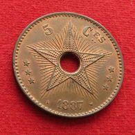 Congo Free State Belgian 5 Centimes 1887 Belgish - Congo (Belgisch) & Ruanda-Urundi