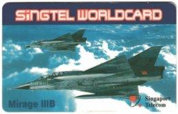 SINGAPORE B-683 Prepaid SingTel - Military, Aircraft - Used - Singapour