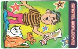 SINGAPORE B-695 Prepaid SingTel - Cartoon - Used - Singapour