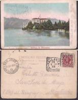 C. Postale - Isolino S. Giovanni - Lago Maggiore - 1908 - Circulee - A1RR2 - Verbania