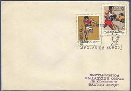 POLAND POSTAL USED AIRMAIL COVER  OLYMPICS GAMES RACE SPORTS - Airmail