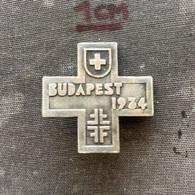 Badge Pin ZN009378 - Gymnastics Hungary Budapest World Championship 1934 Switzerland - Gimnasia